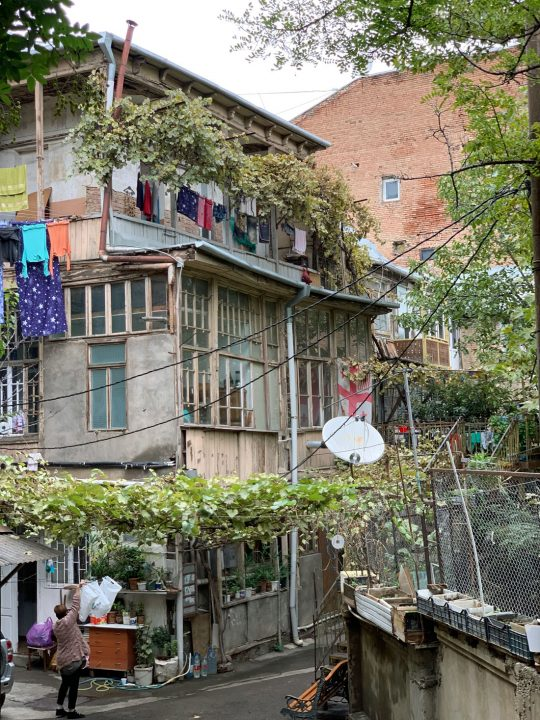 A typical neighborhood in the Old City of Tbilisi, in the republic of Georgia