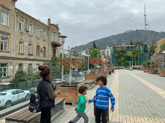 Next to the Opera and Ballet Theatre of Tbilisi, Georgia
